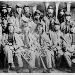 The band of the 13th Massachusetts Infantry, photographed in Hagerstown, MD, December 11, 1861 (Courtesy of Brad Forbush, http://www.13thmass.org/)