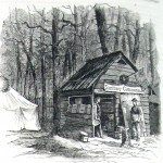 "A ""Cook-House"" operated by the Sanitary Commission it Gettysburg (Harper's Weekly, February 13, 1864; NPS History Collection)"