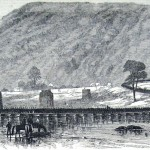 Union forces cross over the Shenandoah River on the temporary pontoon bridge from Harpers Ferry to take Loudoun Heights (Frank Leslies Illustrated Newspaper, November 15, 1862; courtesy of Princeton University Library)