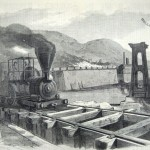 Union railway cars filled with hay, oats and corn catch fire on the bridge at Harpers Ferry (The New-York Illustrated News, November 22, 1862; courtesy of Princeton University Library)