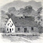 The Dunker Church had the misfortune to come under fire from Union artillery, as evidenced by the scattering of gaping holes in its walls (L. M. Hamilton, artist; The New-York Illustrated News, November 8, 1862; courtesy of Princeton University Library)