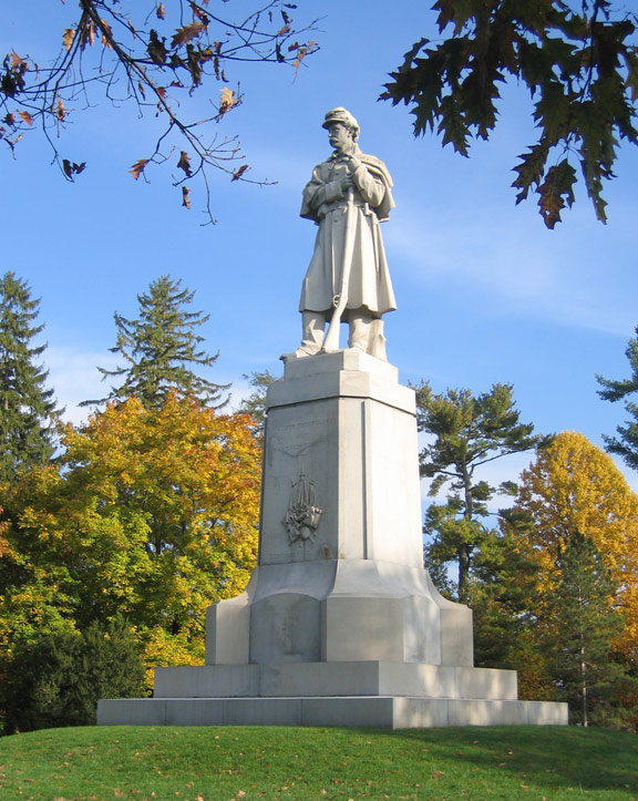 "The Private Soldier Monument (also known as ""Old Simon"") at Antietam National Cemetery  (Keith Snyder, NPS)"