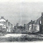 Main Street in Chambersburg (Harper's Weekly, August 20, 1864; courtesy of Princeton University Library)