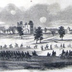 Union cavalry protecting General Sheridan's army as it retreats through Charlestown in August 1864 (Frank Leslie's Illustrated Newspaper, September 17,1864; J.E. Taylor, artist; courtesy of Princeton University Library)