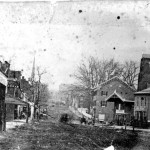 Westminster's Main Street, c.1860s; the 1st Delaware Cavalry charged down this street to meet the Confederates, but were pushed back and overwhelmed by the Southern soldiers. (Courtesy Historical Society of Carroll County)