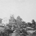 General George McClellan's headquarters during the Battle of Antietam was located at Philip Pry's house on a wooded hill (September 1862, Alexander Gardner, photographer; Library of Congress)
