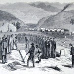 A burial in the soldiers' graveyard on Bolivar Heights near Harpers Ferry (The New-York Illustrated News, November 15, 1862; courtesy of Princeton University Library)