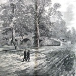 A serene Burnside Bridge after the battle (Harper's Weekly, October 18, 1862; NPS Historical Collection)