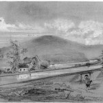 Confederate cavalry commanded by General J.E.B. Stuart crossing the Potomac River into Maryland at McCoy's Ferry, above Williamsport, October 10, 1862 (Theodore R. Davis, artist; Library of Congress)
