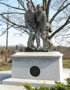 The Maryland state monument at Gettysburg honoring all of the soldiers from the state, Union and Confederate, who fought at Gettysburg (http://www.stonesentinels.com)