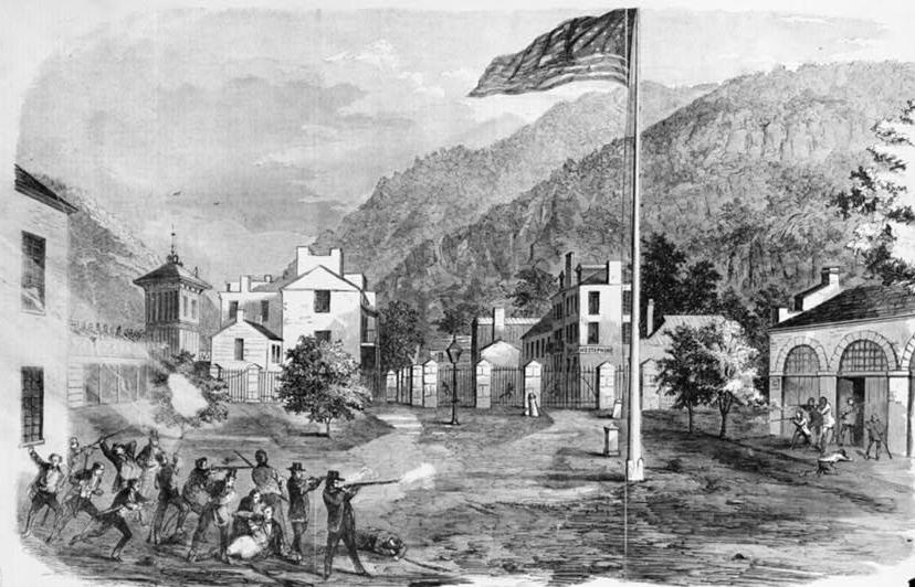 John Brown's Harpers Ferry Raid in 1859 galvanized public opinion on the issue of slavery and led to a hardening of positions North and South.  (Library of Congress)