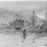 Alfred Wauds original drawing of the previous image (December 1864, Alfred Rudolph Waud, artist; Library of Congress)