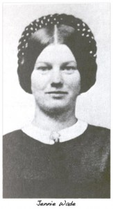 Portrait of Ginnie (Jennie) Wade, the only civilian casualty of the Battle of Gettysburg  (NPS)