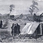 """Yet another image of the camp of the 7th Regiment, New York State Militia outside Frederick appeared in the New-York Illustrated News in August 1863. The artist is only identified as """"E.B.S."""" (E. B. S., artist; The New-York Illustrated News, August 1, 1863; courtesy of Princeton University Library)"""