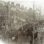 Another view of Union soldiers in Frederick, probably at a Washingtons Birthday celebration on February 22, 1862 (courtesy of Chris Haugh)