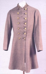 One of two coats made for Robert E. Lee by ladies in Frederick and Carroll Counties, Maryland  (Courtesy of Virginia Historical Society)