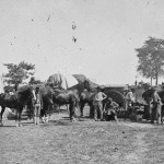 Another view of blacksmiths at work at General McClellan's headquarters after the Battle of Antietam (Alexander Gardner, photographer, September 22, 1862; Library of Congress)