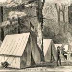 Camp Meredith near Greencastle, PA (Harper's Weekly, July 6, 1861; NPS History Collection)