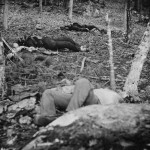 Four dead soldiers repose in the woods near Little Round Top (July 1863, Alexander Gardner, photographer; Library of Congress)