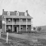 """Farmer's Inn and Hotel"" in Emmitsburg (July 5, 1863, James F. Gibson, photographer; Library of Congress)"