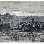 Union soldiers crossing the Potomac River to Ball's Bluff (The New York Illustrated Newspaper, November 11, 1861; Courtesy of Princeton University Library)
