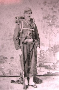 Dewitt C. Rench, Ladd's suspected killer, poses in the zouave-style uniform of his militia unit, the Maryland Guard Battalion (U.S. Army Military History Institute)