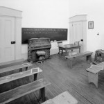A recreated Freedmen's Bureau schoolroom in the Lockwood House, Harpers Ferry (Harpers Ferry National Historical Park)
