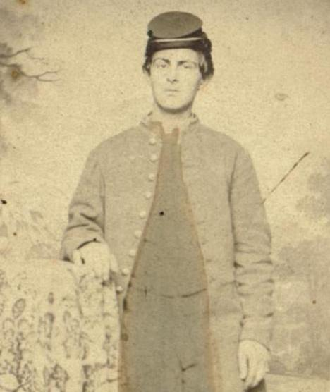 Mark Shriver, shown here, and Henry Wirt Shriver, cousins from Union Mills in Carroll County, fought on opposite sides in the Civil War  (Historical Society of Carroll County)