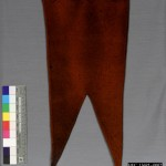 Wool swallowtail pennant that mounted on the lances of the 6th Pennsylvania Cavalry (Rushs Lancers). The pennant belonged to General George Meades son, George Meade, Jr., who was a 2nd Lieutenant in Company C of the regiment. (Gettysburg National Military Park)