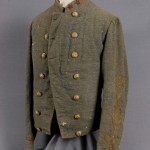 Shell jacket belonging to Lt. Col. Roger Preston Chew, from Charlestown, Commander of the Horse Artillery in the Army of Northern Virginia (Harpers Ferry National Historical Park)