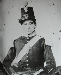 Luther Ladd of the 6th Massachusetts Infantry, wearing the distinctive attire of the regiment (U.S. Army Military History Institute)