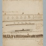 1929 sketch by I.G. Bradwell, former member of the 31st Georgia, showing battle lines at the Battle of Monocacy, and troops marching to the battle (Monocacy National Battlefield)
