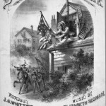 The cover of the sheet music for Barbara Frietchie, published in 1874 (Lester S. Levy Sheet Music Collection, Sheridan Libraries, Johns Hopkins University)