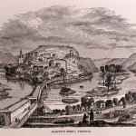 Harpers Ferry, from an 1859 engraving (Courtesy of Timothy R. Snyder)