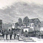 Confederate soldiers under General Jubal Early pillaging a Hagerstown depot during their excursion into Maryland in 1864 (Harper's Weekly, July 30, 1864; NPS History Collection)