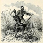 The Death of Colonel Edward Baker (Paul Fleury Mottelay and T. Campbell-Copeland, Frank Leslie's The Soldier in Our Civil War, Vol. I [New York: S. Bradley Pub. Co, 1893], 152)