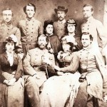 The ladies shown in this photograph - Elizabeth White standing in the center, Annie Hempstone to her left, and Kate and Betsie Ball (probable) were residents of Loudoun County, VA, and smugglers of military supplies from Maryland back across the Potomac River. (Thomas Balch Library Visual Collections)