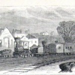 In Martinsburg, the shops of the Baltimore and Ohio Railroad were destroyed during the war. (Harpers Weekly, December 3, 1864; NPS History Collection)