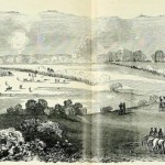 The center and right side of the battlefield, from the Union side, around 10:00 am on the morning of September 17 (Paul Fleury Mottelay, and T. Campbell-Copeland, Frank Leslie's The Soldier in Our Civil War Vol. I [New York: S. Bradley Pub. Co, 1893], 386-7; the original appeared in Frank Leslie's Illustrated Newspaper, October 11, 1862)