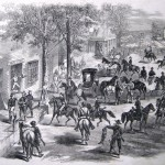 Confederates raiding the town of New Windsor, MD, on July 10, 1864 (Frank Leslie's Illustrated Newspaper, September 3, 1864; courtesy of Princeton University Library)