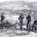 Soldiers of McMullin's Rangers, from Philadelphia, in Hagerstown, MD (Harper's Weekly, July 20, 1861; NPS History Collection)