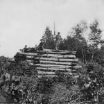 A Union signal tower on Elk Mountain overlooking Sharpsburg after the Battle of Antietam (Alexander Gardner or Timothy H. O'Sullivan, photographer, September 1862; Library of Congress)