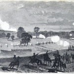 At the Battle of Boonsboro on July 8, 1863, the cavalry of both sides fought dismounted at times (C.E.H. Bonwill, artist; Frank Leslie's Illustrated Newspaper, August 8, 1863; courtesy of Princeton University Library)