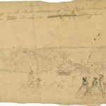 The camp of the First Division of Union General Banks command on a hillside near Frederick (Francis H. Schell, artist [Sept. 1862]; Becker Archive, Boston College