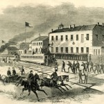 Confederate soldiers in Martinsburg, VA (Harper's Weekly, June 29, 1861; NPS History Collection)