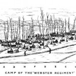 The 12th Massachusetts Infantry, also known as the Webster Regiment, spent the winter camped along the Frederick and Baltimore turnpike near Frederick, Maryland (Lt. Col. Benjamin F. Cook, History of the Twelfth Massachusetts Volunteers (Webster Regiment) [Boston, Mass.: Twelfth (Webster) Regiment Association, 1882], 33-35)