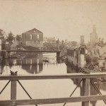The ruins of the Baptist Church and gas works in Chambersburg, destroyed by Confederates under Brig. Gen. John McCausland in 1864 (R. Newell, photographer; Library of Congress)