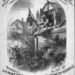 Cover of sheet music for Barbra Frietchie, words by J.G Whittier, music by Elizabeth Sloman, 1874 (Lester S. Levy Sheet Music Collection, Sheridan Libraries, Johns Hopkins University