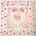 Twenty-year-old Margaret E. Buckey, of Frederick County, made this quilt in 1857, expressing her patriotic feelings. The Liberty Pole between the two flags may also have expressed anti-slavery feelings, as Buckey was a member of the anti-slavery Brethren Church and also lived near anti-slavery Quakers. See Gloria Seaman Allen and Nancy Gibson Tuckhorn, A Maryland Album, Quiltmaking Traditions, 1634-1934 (1995), 153-55. (Historical Society of Carroll County; courtesy of the MD Assoc. for Family and Community Education)