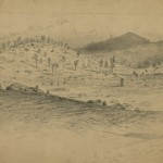 Little Round Top and the adjacent Devil's Den (July 4, 1863, Edwin Forbes, artist; Library of Congress)